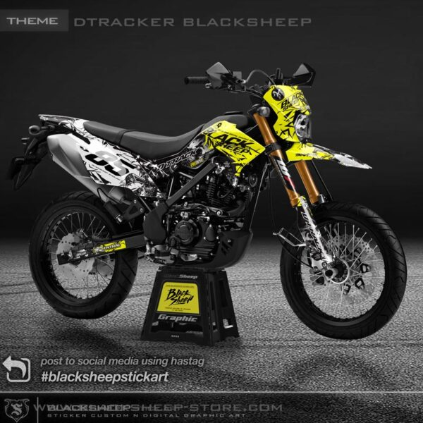 DECAL Kawasaki DTRACKER BLACKSHEEP Skull