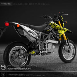 Decal sticker Kawasaki DTRACKER blacksheep skull