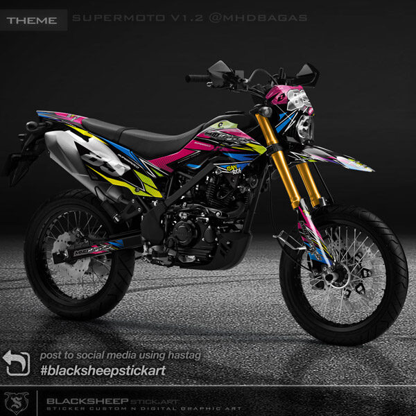 Decal sticker Kawasaki DTRACKER supermoto