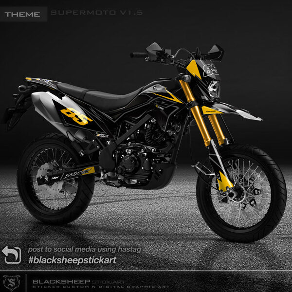 Decal sticker Kawasaki DTRACKER supermoto v1.5