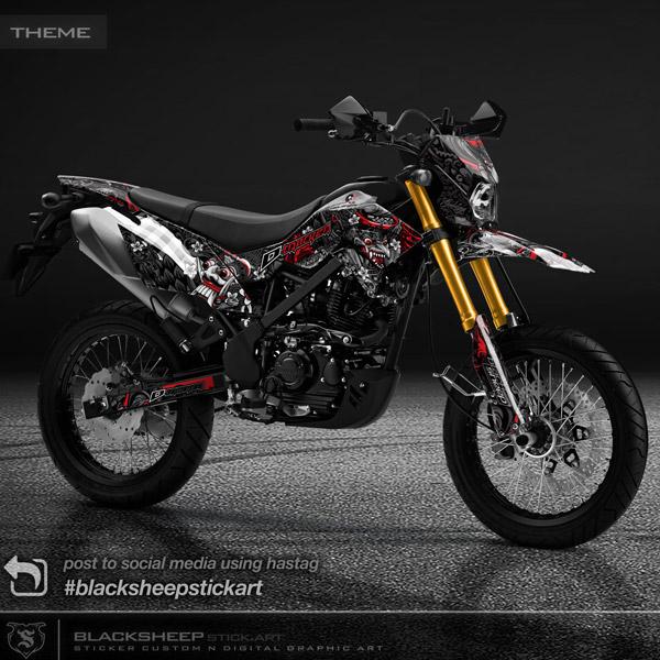 DECAL Kawasaki DTRACKER BALI BARONG