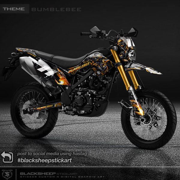 Decal sticker Kawasaki DTRACKER bumblebee
