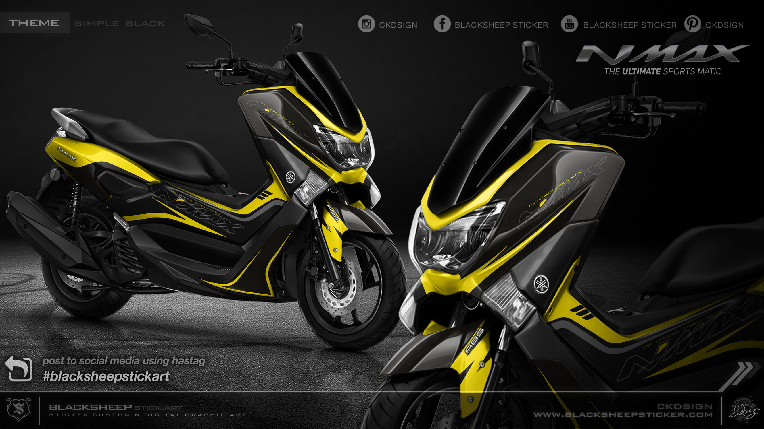 Nmax minimalis kuning lemon