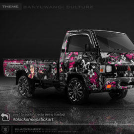 Decal sticker Mitsubishi L300 Banyuwangi culture