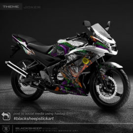 Decal sticker Kawasaki NINJA 150rr Joker