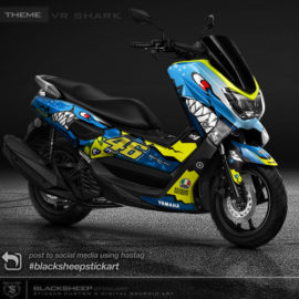 Decal sticker nmax tema shark 46