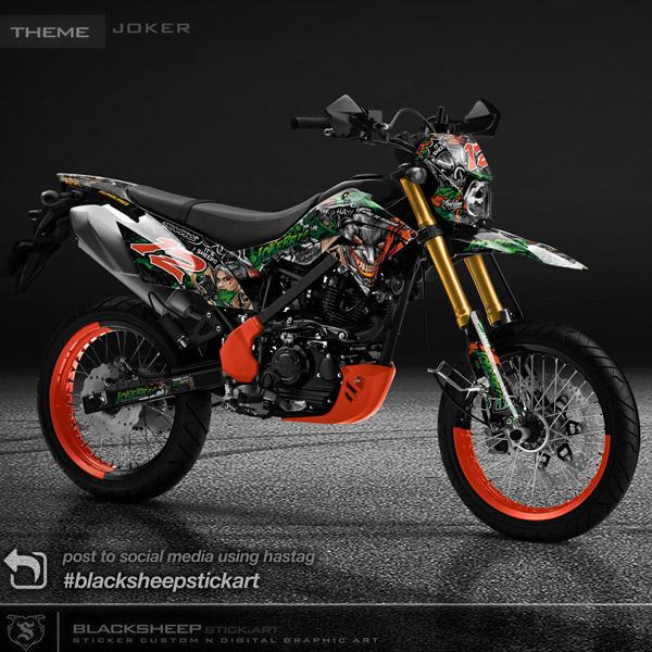 Decal sticker Kawasaki DTRACKER Joker & Harleyquinn