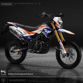 Decal sticker Kawasaki DTRACKER supermoto v1.6