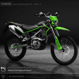 Decal sticker Kawasaki KLX150 BF V2.1