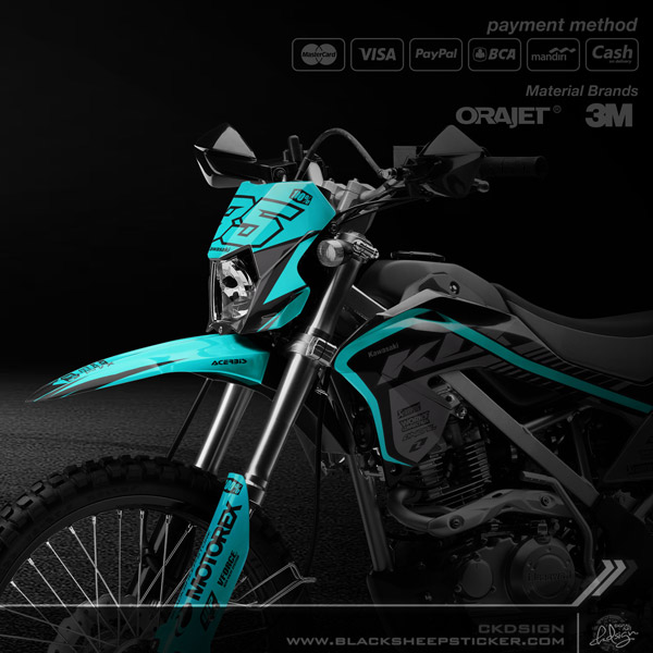 DECAL Kawasaki KLX150 BF Supermoto V2.1 - BLACKSHEEP store