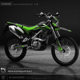 Decal sticker Kawasaki KLX150 BF V2