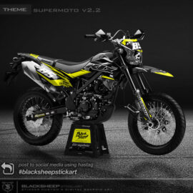 Decal sticker KLX150 BF supermoto camouflage V2.2