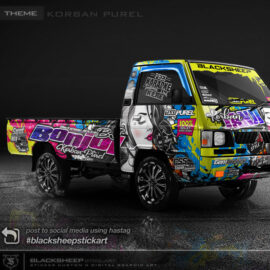 Decal sticker Mitsubishi L300 korban pure
