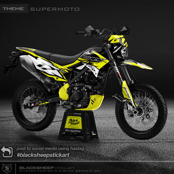 Decal sticker new dtracker supermoto V1
