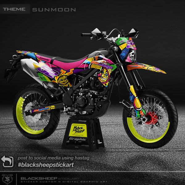 Decal sticker KLX150 BF sunmoon vr46