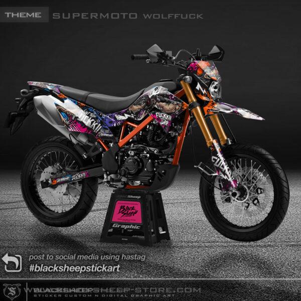 Decal sticker Kawasaki New DTRACKER supermoto wolffuck