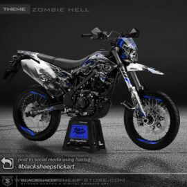Decal sticker Kawasaki New DTRACKER zombiehell