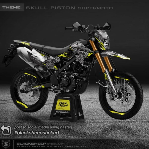 DTRACKER skull piston supermoto