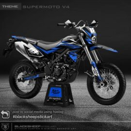 Decal sticker Kawasaki New DTRACKER supermoto v4