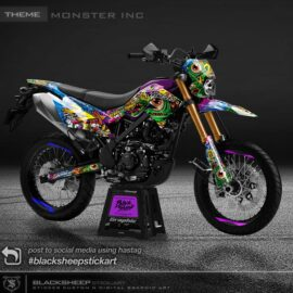 Decal sticker Kawasaki DTRACKER MONSTER inc