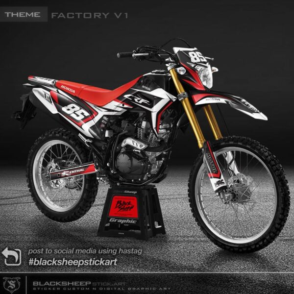DECAL stiker Honda CRF150 Factory v1