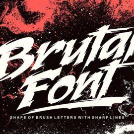 wanted brutalism Brutal Font blacksheep