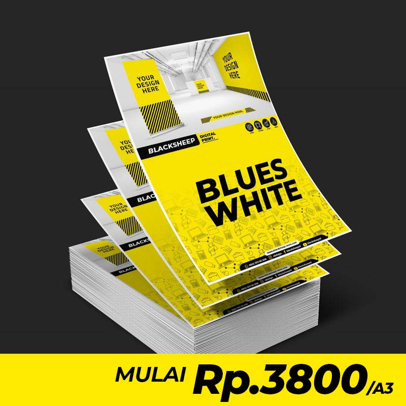 Cetak Laser Blues White A3+