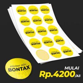 Cetak Laser Sticker Bontac A3+
