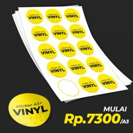 Cetak Laser Sticker Vinyl A3+