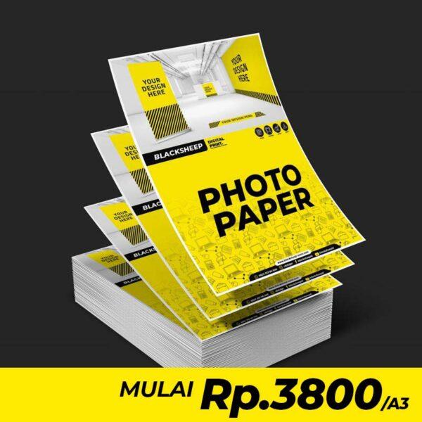Cetak Laser Photo paper dengan ketebalan 230 gsm yeng memiliki permukaan putih dan mengkilap sehingga hasil cetak akan lebih terlihat Halus ..