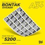 Cetak Laser Sticker Bontak A3+